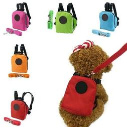 Cute Pet Dog Harness Bag with Leash Backpack Puppy Doggie Hi