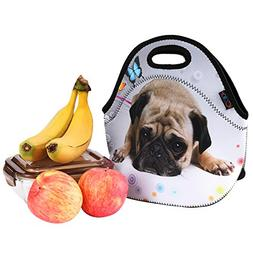 iColor Cute Pug Boys Girls Kids Neoprene Sleeve Insulated Lu