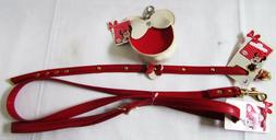 Discontinued Disney Minnie Red Leather Dog Bag Holder Collar