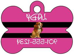 Disney Lady and the Tramp Dog Tag Pet Id Tag Personalized w/