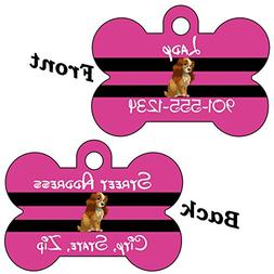 Disney Lady and the Tramp Double Sided Pet Id Tag for Dogs &