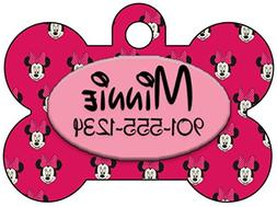 Disney Minnie Mouse Pet Id Tag for Dogs & Cats Personalized