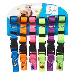 Small Dog Collars – 6-Pack Soft Nylon Adjustable Dog Colla