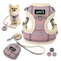 Puppy Small Pet Dog Harness Vest Leash and Snack Bag Soft Pa