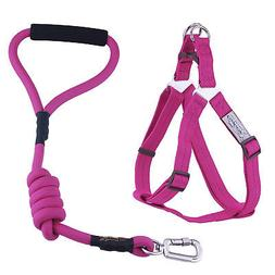 Dog Harness and Leash Set Heavy-Duty Rope Leash Adjustable P