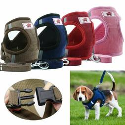 Dog Harness Vest+Leash Set Small Dogs Cats Walking Chest Str