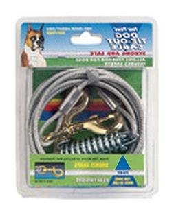 Dog Heavy Tie Out Cable in Silver Size: 20 Feet