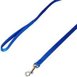 Dog Leash - Nylon - 4 Ft. Blue with a Width of 5/8 in.