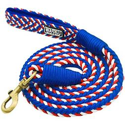 Dog Leash Heavy Duty Rope 6 Feet Nylon Leash W/ Padded Handl