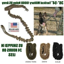 Dog Leash K9 Police Tactical Training 1000d nylon Bungee US