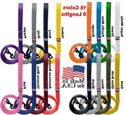 "Dog Leash Short Long Lead Obedience Training 1"" Many Colors/"