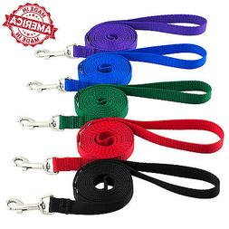 "Dog Leash Pet Training Made in USA 1"" x 4 ft to 50 ft Colors"