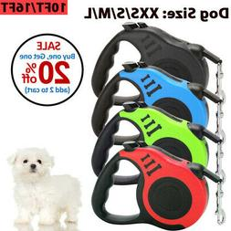 Dog Leash Retractable Walking Collar For Small Medium Pet wi