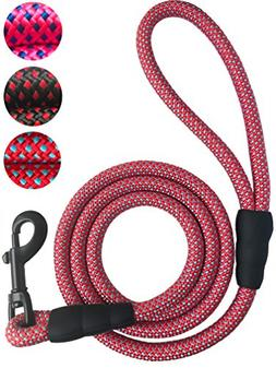 iYoShop Dog Leash Rope Leash - 3/8 Inch Thick 6 Feet Long -