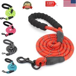 Dog Pet Leash Strap Comfortable Padded Handle Threads Collar