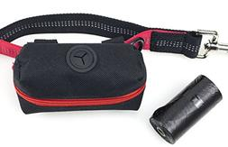 Dog Poop Bag Holder Black, Leash Attachment Dispenser, 20 Ba