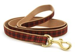 Up Country - Dog Puppy Design Leash - Made In USA - Red Plai