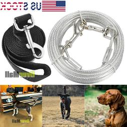 Dog Tie-Out Stainless Steel Cable Leash Pet Leash Heavy Duty
