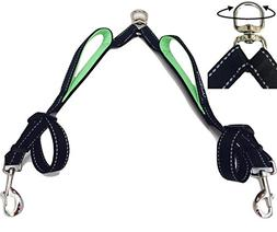 Vaun Duffy Double Dog Leash Coupler with Two Padded Handles
