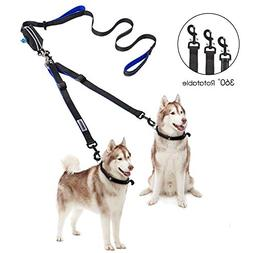 YOUTHINK Double Dog Leash, No Tangle Dog Walking Leash 2 Dog