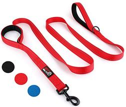 Primal Pet Gear Double Handle Dog Leash 8ft long, Heavy Duty