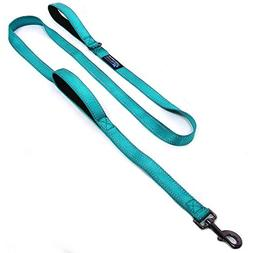 Max and Neo 4FT Double Handle Traffic Dog Leash Reflective -