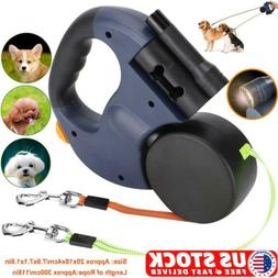 Double-headed Retractable Dog Leash Pet Collar Automatic Wal