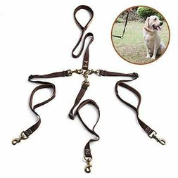 Double/Triple Dog Leash with Traffic Handle for Walking 1/2/