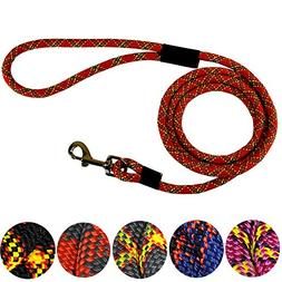 Downtown Pet Supply DTPS, Durable Dog Rope Leash, 6' feet,