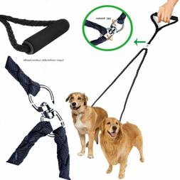 Dual Double Dog Leash No Tangle Coupler Nylon Leash for Two
