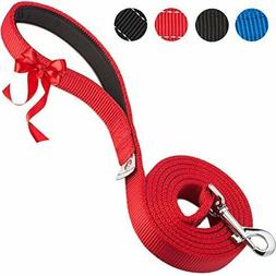 """Pets Lovers Club  Durable Dog Lead, Red 1"""" Wide, 6 Feet Long"""