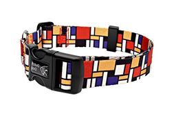 Dutch Dog Amsterdam Eco Friendly Mondrian Dog Collar, 15-20-