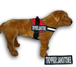 EMOTIONAL SUPPORT Nylon Dog Vest Harness. Purchase comes wit