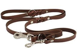6 Way European Multifunctional Leather Dog Leash Braided, Ad