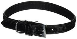 Dogit Style Faux Leather Dog Collar, Milano, Small, Black