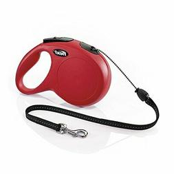 FLEXI New Classic Retractable Dog Leash , 26 ft, Medium, Red