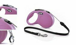 FLEXI New Classic Retractable Dog Leash , 26 ft, Small, Pink