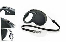 FLEXI New Classic Retractable Dog Leash , 26 ft, Small, Blac