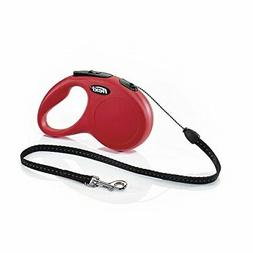 FLEXI New Classic Retractable Dog Leash , 16 ft, Small, Red