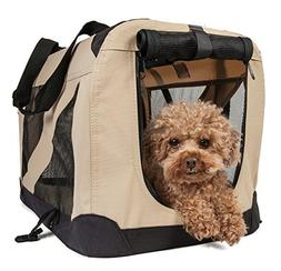 Pet Life Folding Zippered 360 Vista View House Carrier in Kh