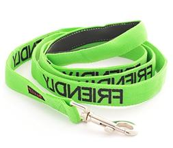 friendly green coded padded dog