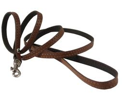 """Genuine Leather Dog & Cat Leash 45"""" long 3/8"""" wide for Small"""