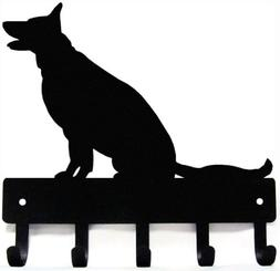 German Shepherd Sitting - Key Rack & Dog Leash Hanger - Smal