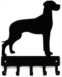 Great Dane  Key Rack/ Dog Leash Hanger with 5 hooks- Small 6