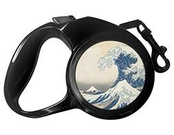 YouCustomizeIt Great Wave of Kanagawa Retractable Dog Leash