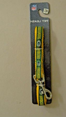 Pets First Green Bay Packers NFL Team Pet Dog Collar Leash -