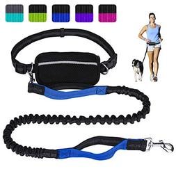 Hands Free Dog Leash for Running Walking Training Hiking, Du