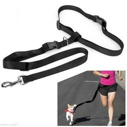 Hands free Dog Lead Walking Running Jogging Waist Belt Leash
