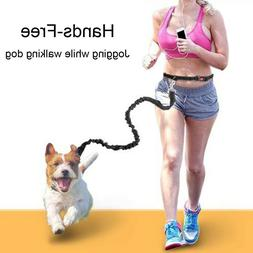 Hands Free Dog Leash Running Bungee Leashes Lead with Waist
