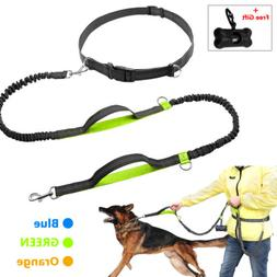 Hands Free Dog Leash Running Jogging Waist Belt Pet Training